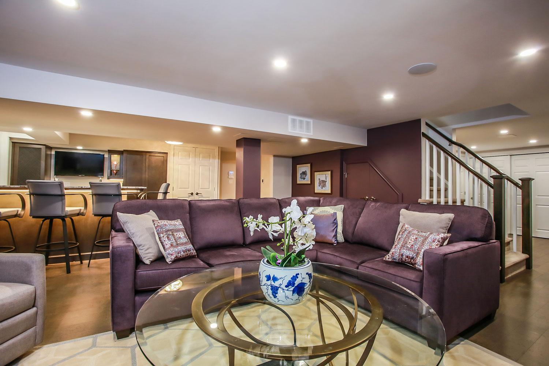 open concept basement renovation