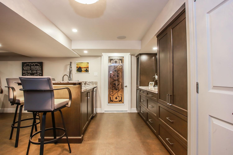 basement renovation kitchen with island