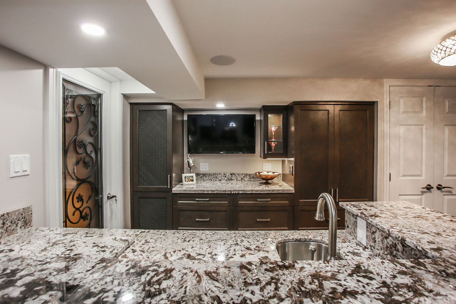 marble countertop basement suite kitchen