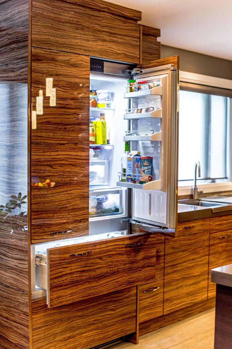 hidden integrated fridge - total living concepts barrie ontario