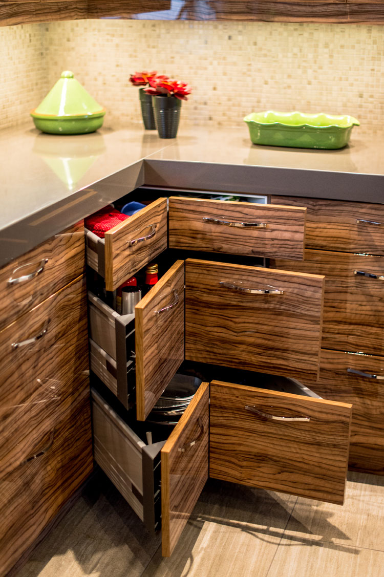 corner cabinet drawers - total living concepts barrie ontario