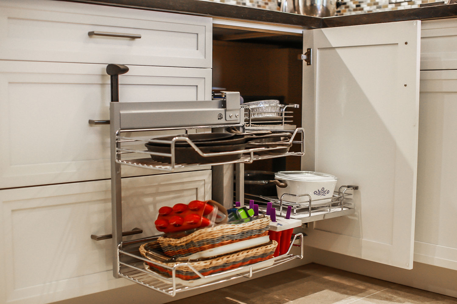 convenient pull out pot drawers
