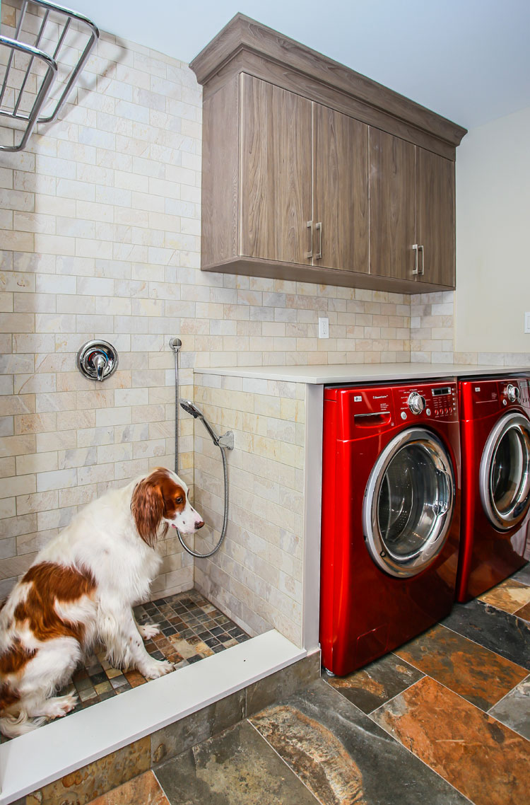 Laundry room with dog shower - Total Living Concepts barrie ontario