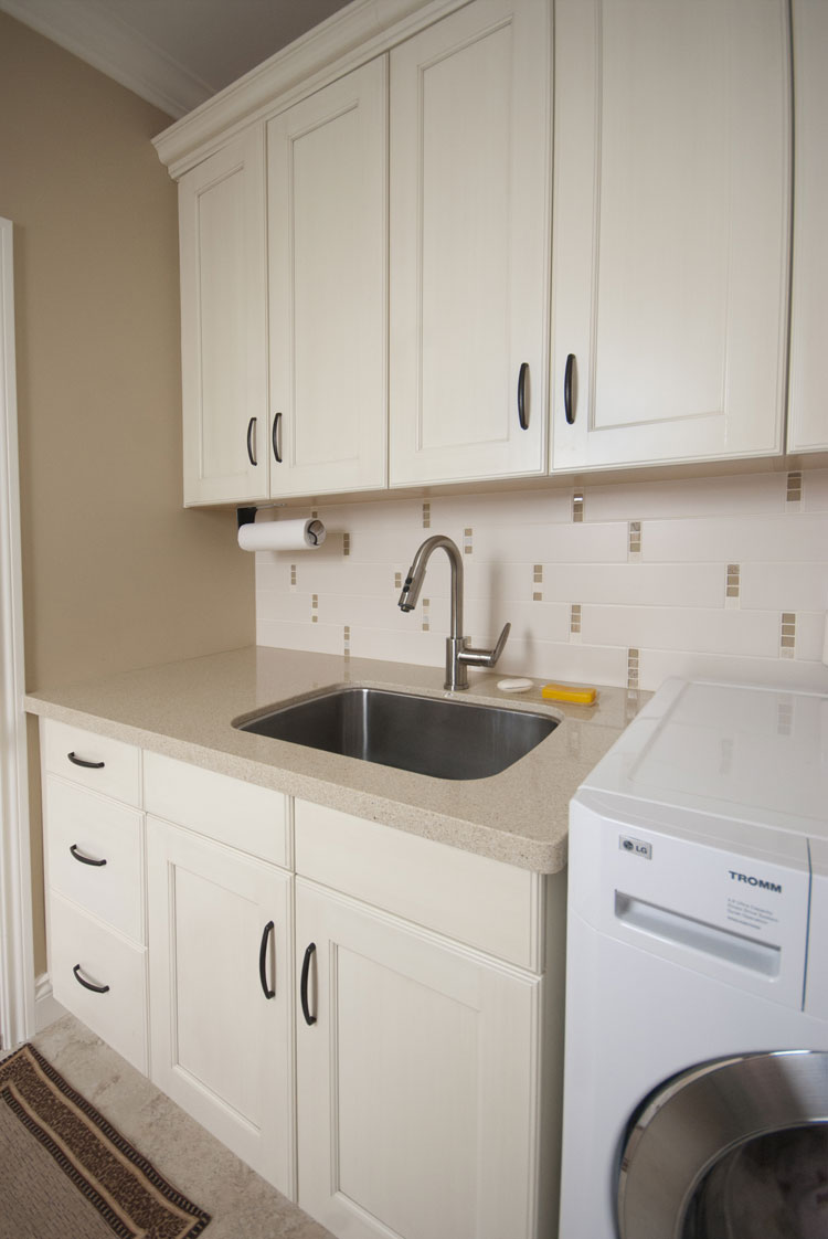 laundry room renovation with sink