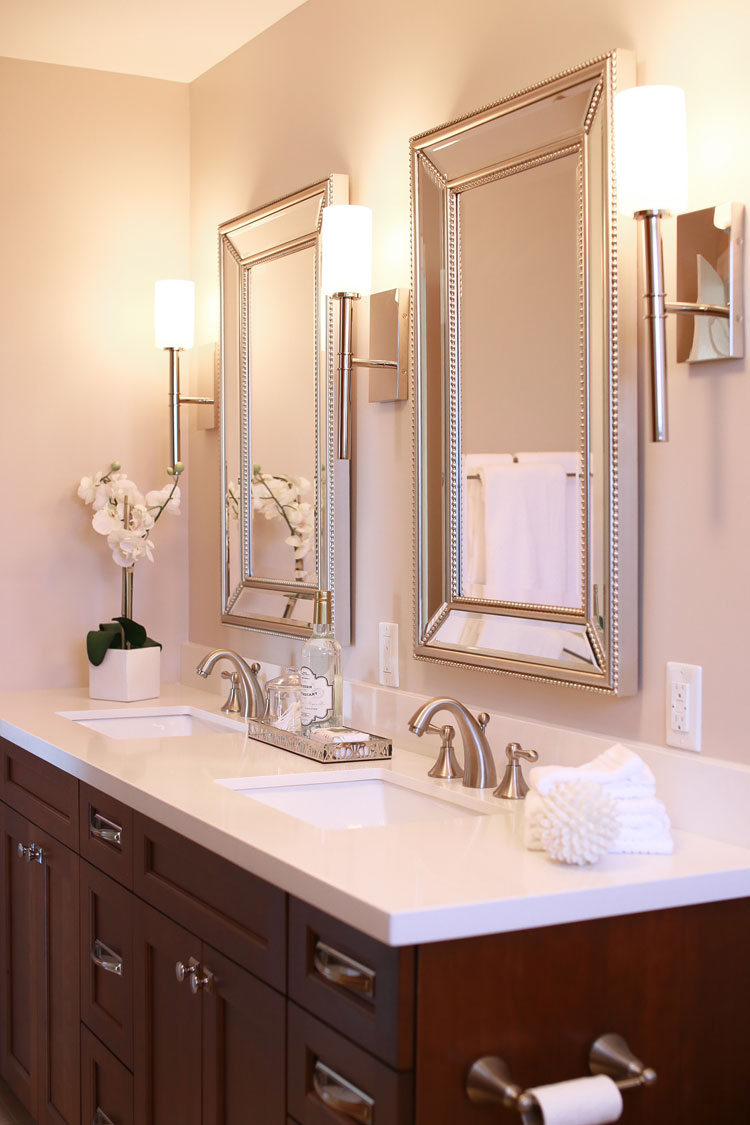 ensuite with dual vanities