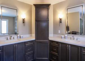 Ensuite renovation with dual vanities - Total Living Concepts barrie ontario